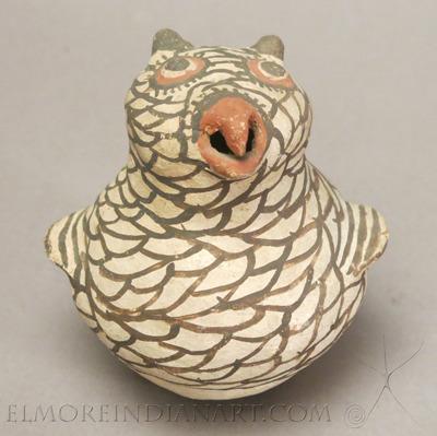 Zuni Polychrome Owl, c.1920