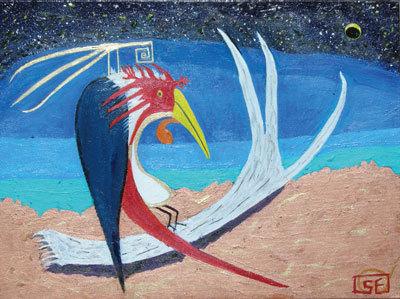 Spirit Bird on Antler