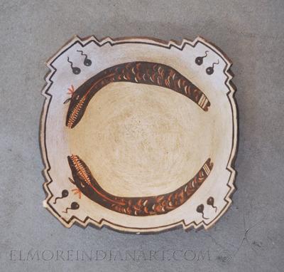 Zuni Stepped Kiva Bowl with Avanyus, c.1900-1910