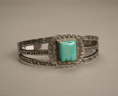 Navajo Single Stone Bracelet, c.1940, Trusdell Collection