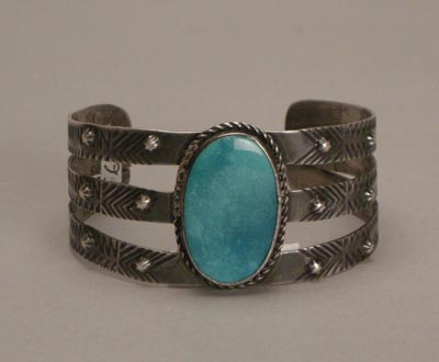 Navajo Single Stone Bracelet, Trusdell Collection