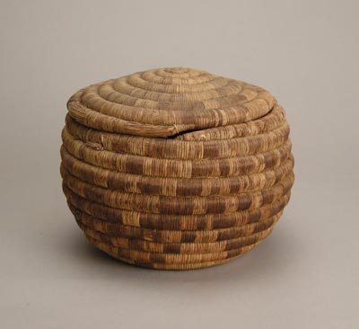 Hopi Lidded Coil Basket, c.1910