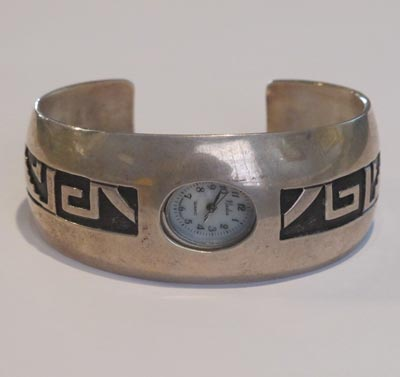 Hopi Overlay Watchband, c. 1950