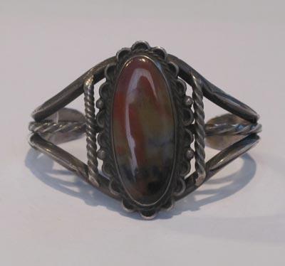 Elegant Navajo Petrified Wood Bracelet, c. 1940