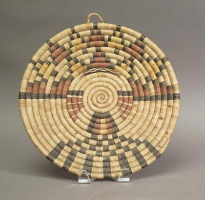 Hopi Coil Plaque with Butterfly Maiden