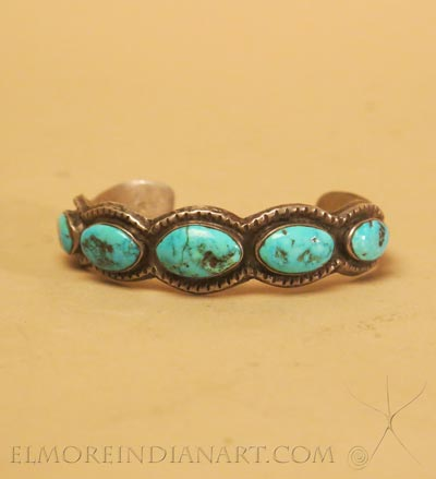 Navajo Sandcast Row Bracelet, c.1940