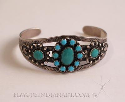 Navajo Cluster Bracelet, c.1940