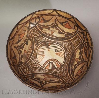 Hopi Polacca Kachina Bowl
