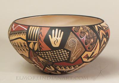 Hopi Large Open Bowl with Shard Designs