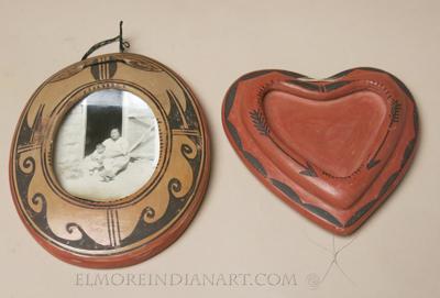 Two Hopi Ceramic Photo Frames, c.1920