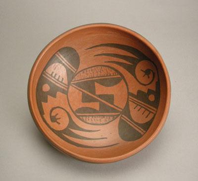 Hopi Black on Red Bowl, c.1960-70