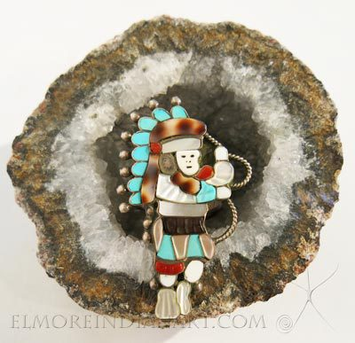 Zuni Inlay Figure Ring