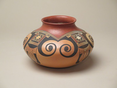 Jar with Eagle Tail Design by Fannie Nampeyo