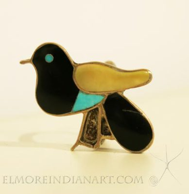 Zuni Inlay Bird Ring