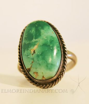 Silver Ring with Large Turquoise Stone