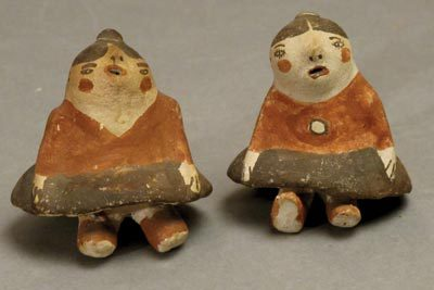 Pair of Old Zuni Figurines