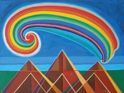 Triangle Mountain with Rainbow VII